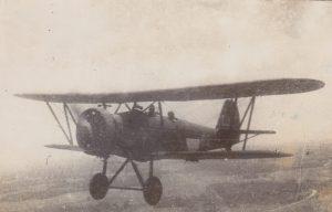 Pesawat Cureng dengan tanda merah putih pertama