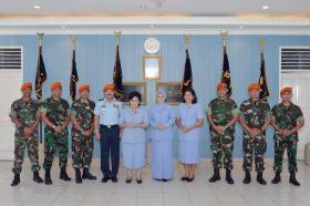 Kunjungan Kasau Beserta Ketua Umum PIA Ardhya Garini ke Wing I Paskhas