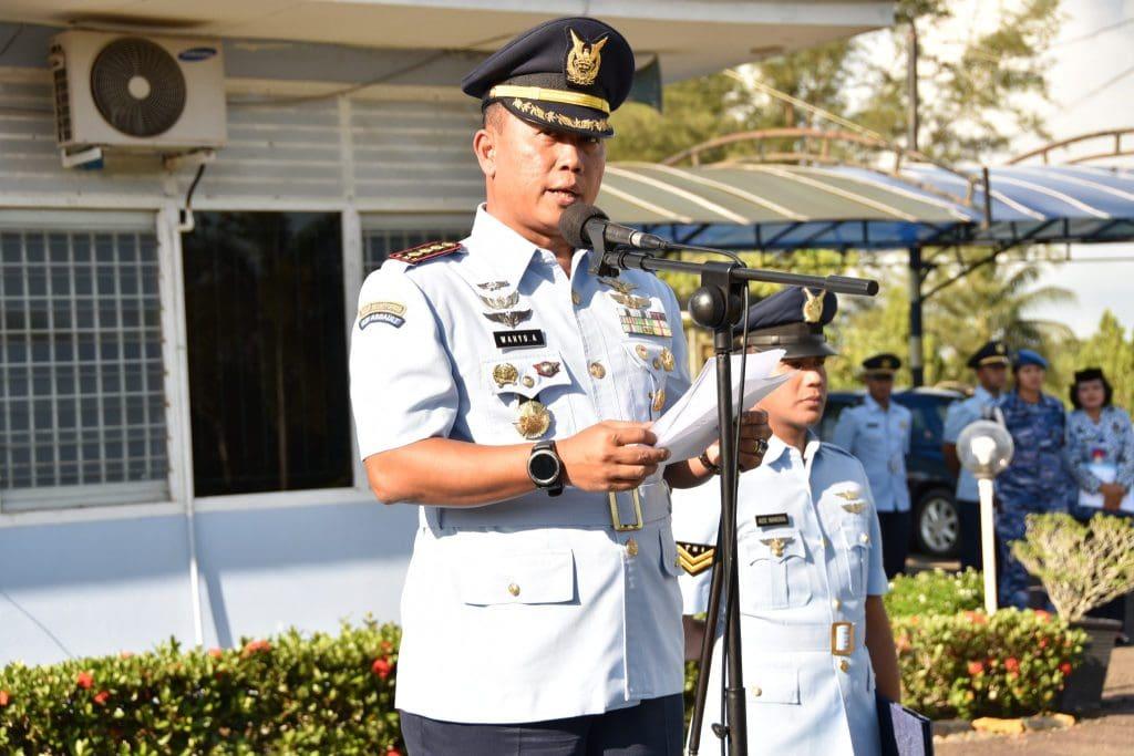 """Upacara HUT KOOPSAU di Lanud Raja Haji Fisabilillah """"Jadilah Pelopor Perubahan untuk Kebaikan TNI AU"""""""