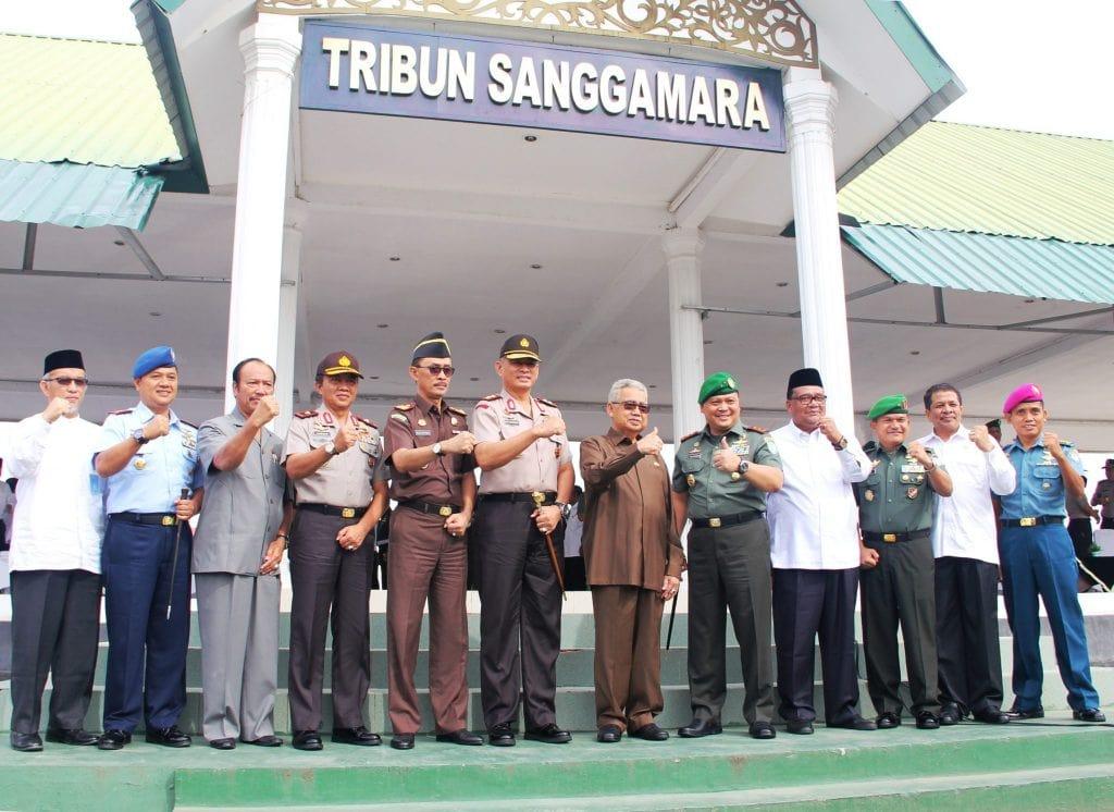 Lanud Sim Ikut Apel Gabungan Instansi Segarnisun Aceh