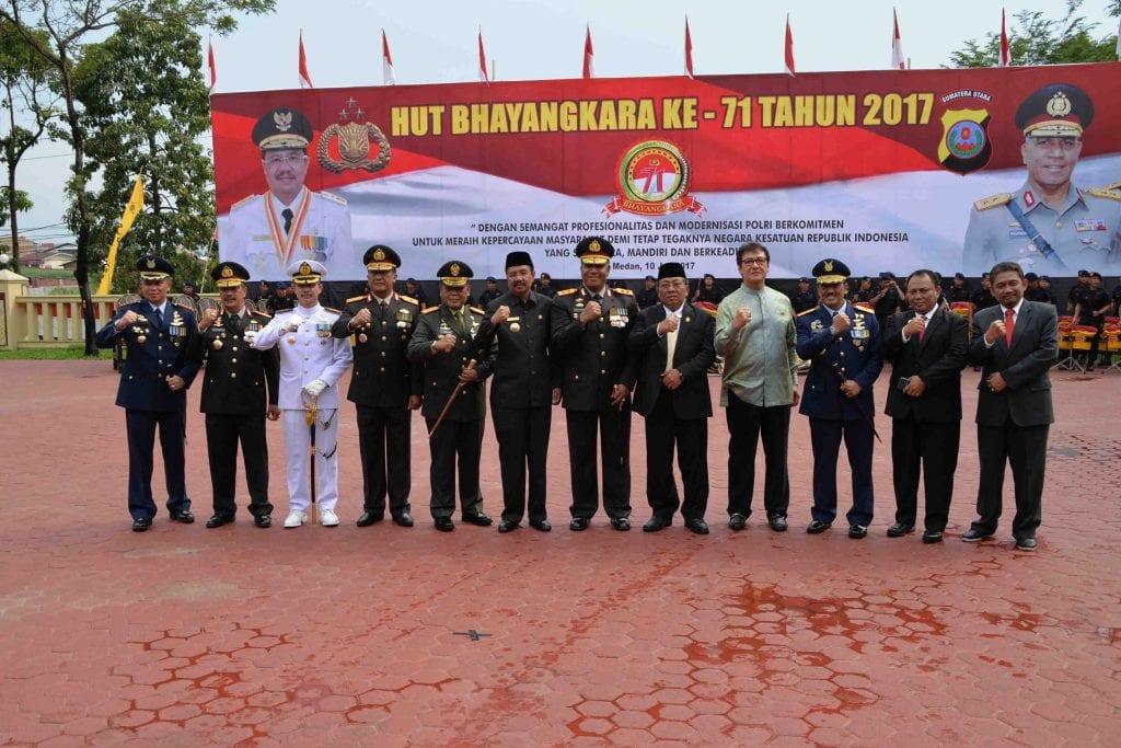 Panglima Kosekhanudnas III Hadiri Upacara Peringatan ke-71 Bhayangkara Tahun 2017