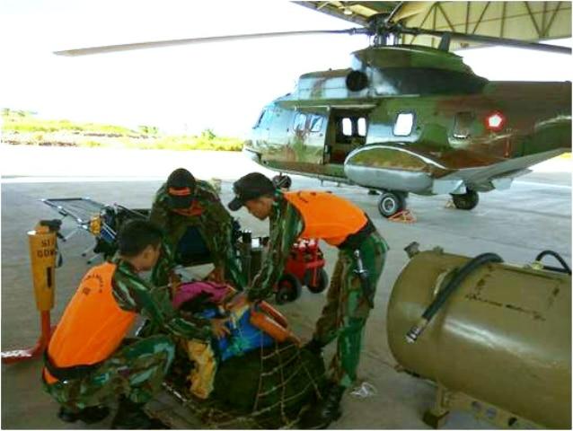 Yonko 466 Paskhas Melaksanakan Kegiatan Stand by SAR Tarakan