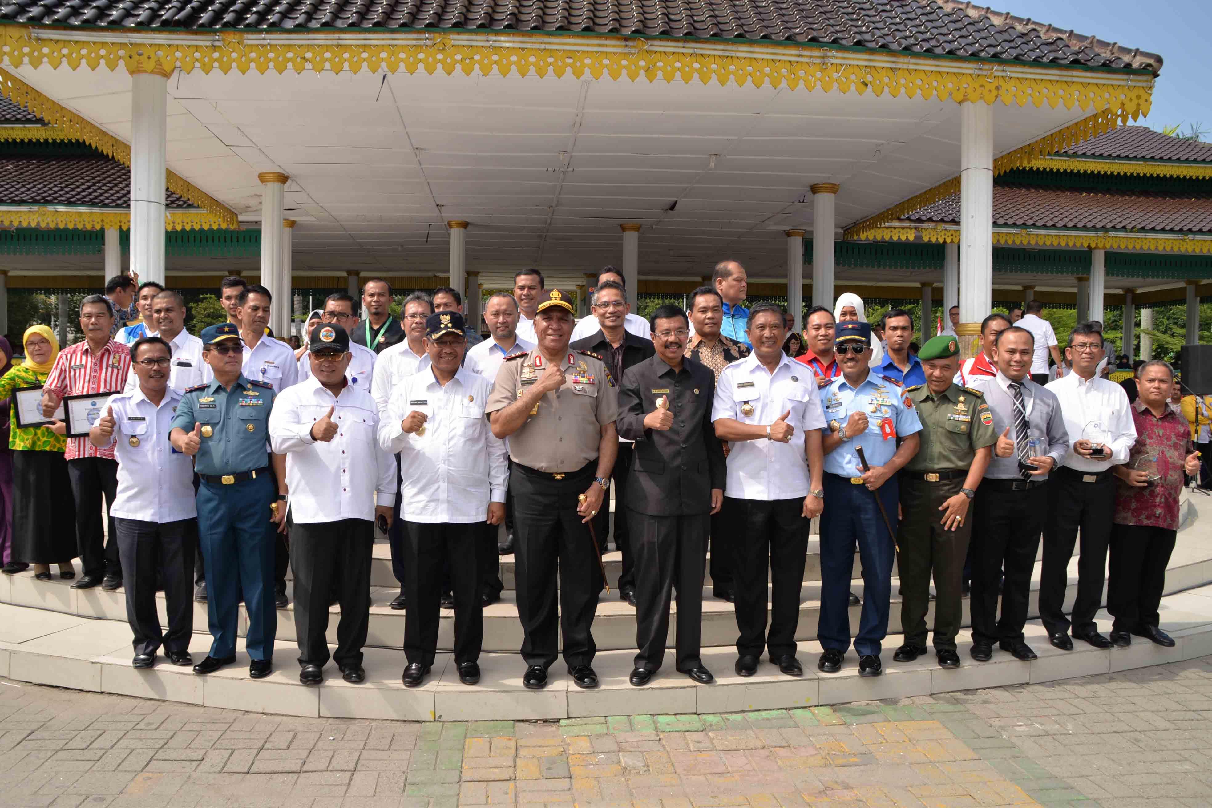 PanglimaKosekhanudnas III Hadiri UpacaraHari Anti Narkotika Internasional Provinsi Sumut