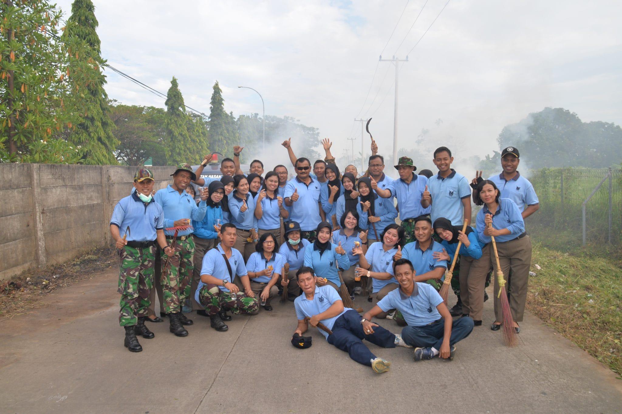 PERINGATI HARI BAKTI KE-70 TNI AULANUD SULTAN HASANUDDIN GELAR KARYA BAKTI