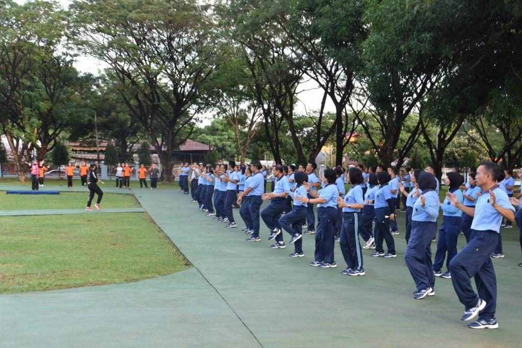 Pangkoopsau II Olahraga Bersama Dengan Anggota Makoopsau II