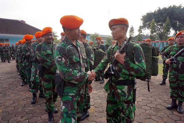 Penyambutan Tugas Satpamwal Mabes TNI