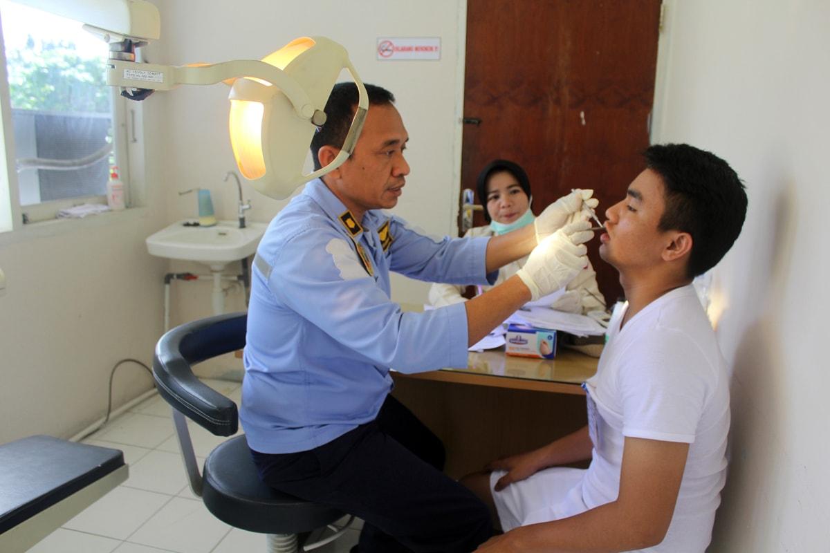 159 Casis Bintara Lanud Rsn Laksanakan Tes Kesehatan