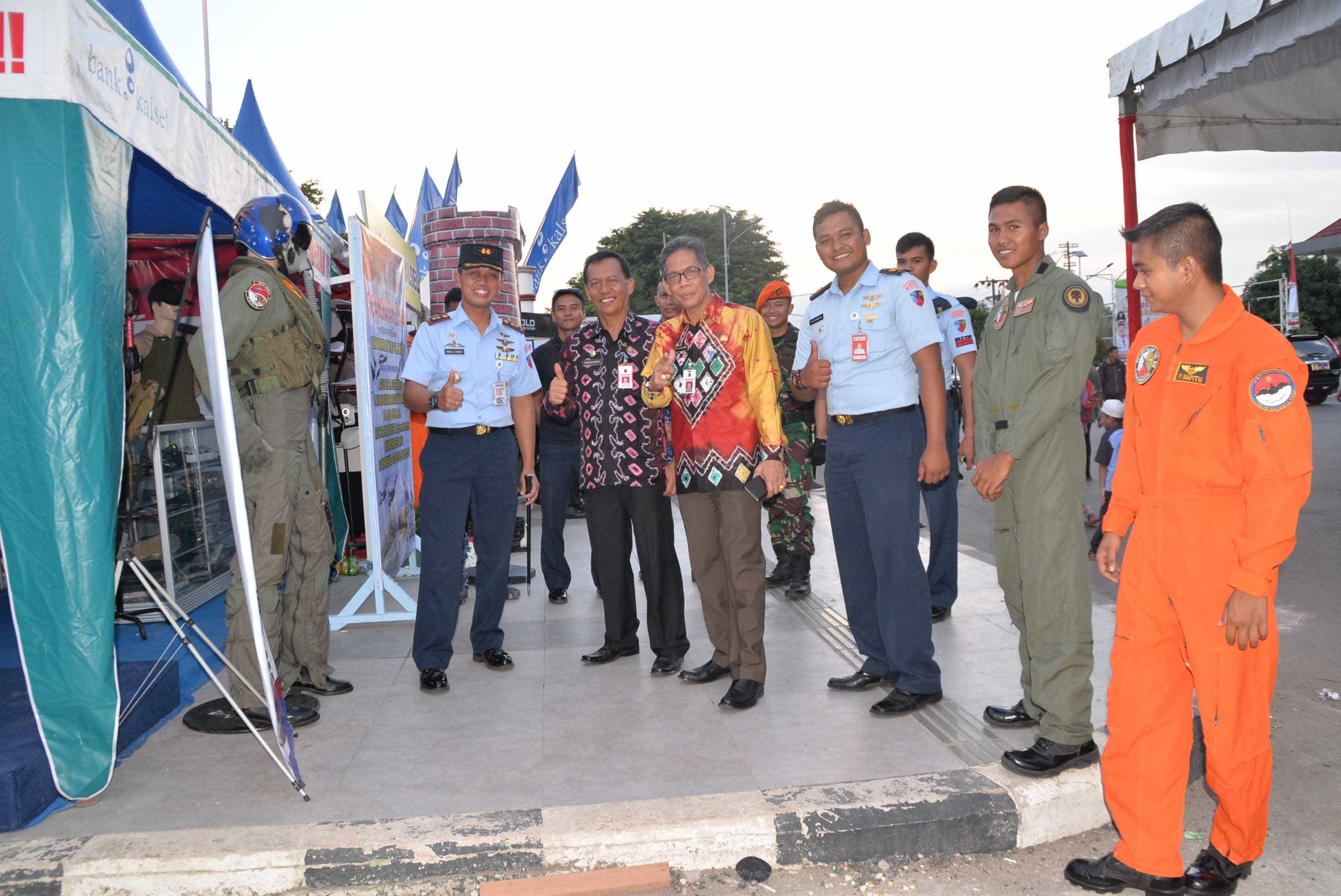 Komandan Lanud Sjamsudin NoorHadiri Kalimantan Expo 2017 di Banjarbaru
