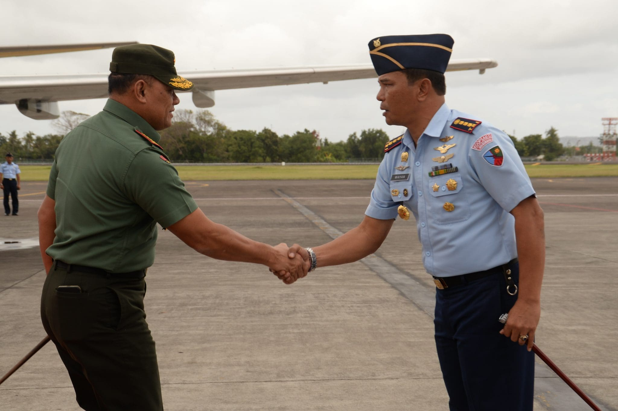 KOMANDAN LANUD NGURAH RAI SAMBUT PANGLIMA TNI