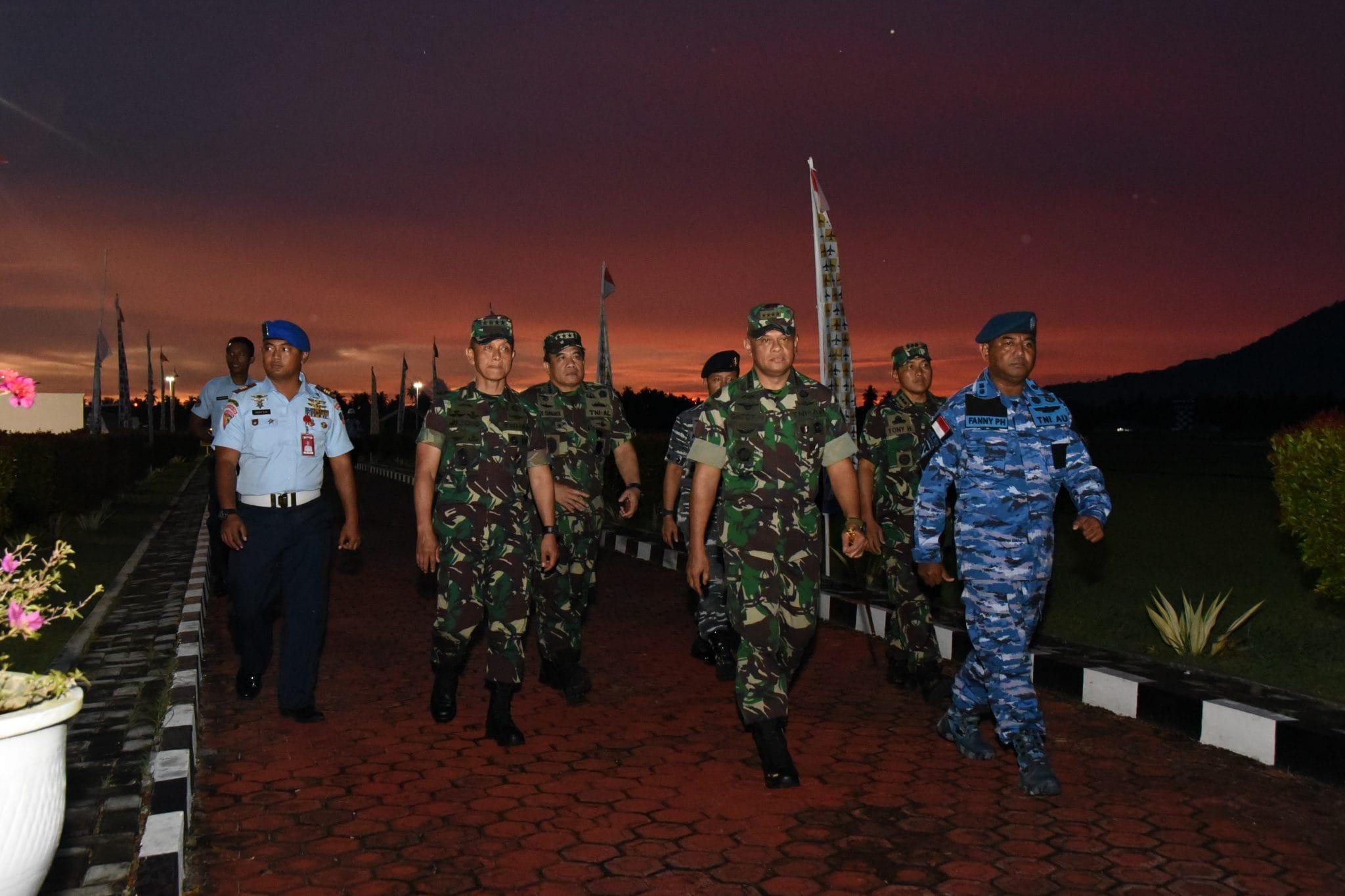 Danlanud RSA Sambut Panglima TNI