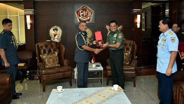 Panglima TNI Terima Kasau Brunei di Mabes TNI Cilangkap