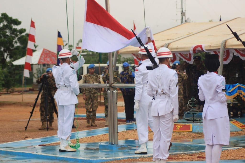 Pasukan Garuda Peringati HUT RI Ke-72 di Markas Indobatt-03