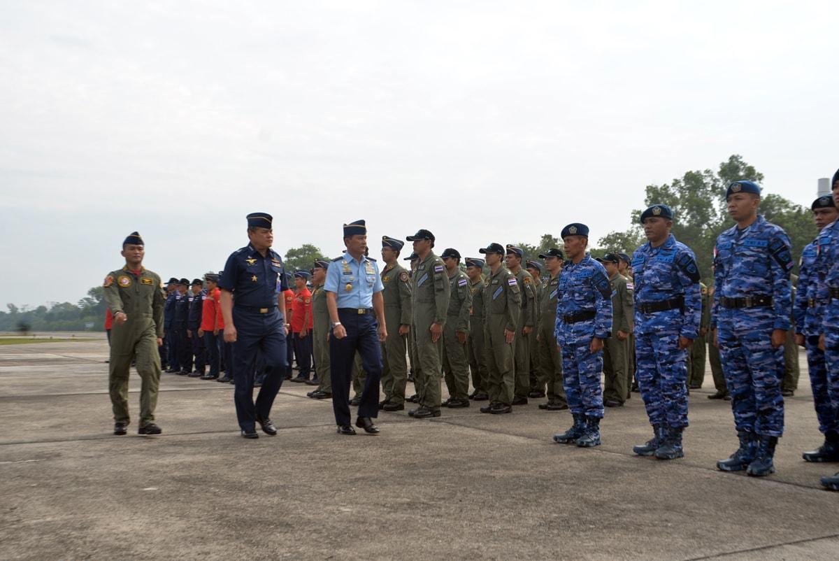 Wakasau dan RTAF Chief of Air Staf Tutup Latma Elang Thainesia XVIII/2017