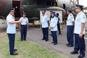 Kasau Kunjugi Pesawat Hercules C-130 di Museum TNI AU
