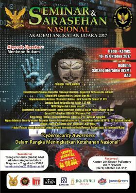 Seminar dan Sarasehan Nasional Akademi Angkatan Udara 2017