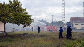 Kosekhanudnas IV Laksanakan Latihan Pencegahan dan Penanggulangan Bahaya Kebakaran