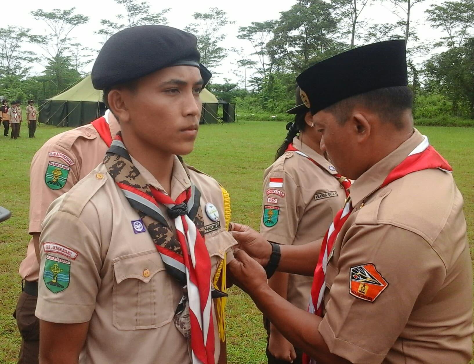 Pengukuhan 146 Anggota Pramuka Saka Dirgantara Rajawali Lanud HAD