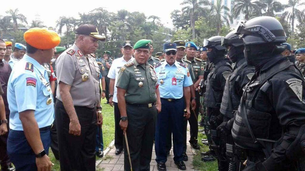Apel Gelar Pengamanan VVIP Libatkan Prajurit Paskhas
