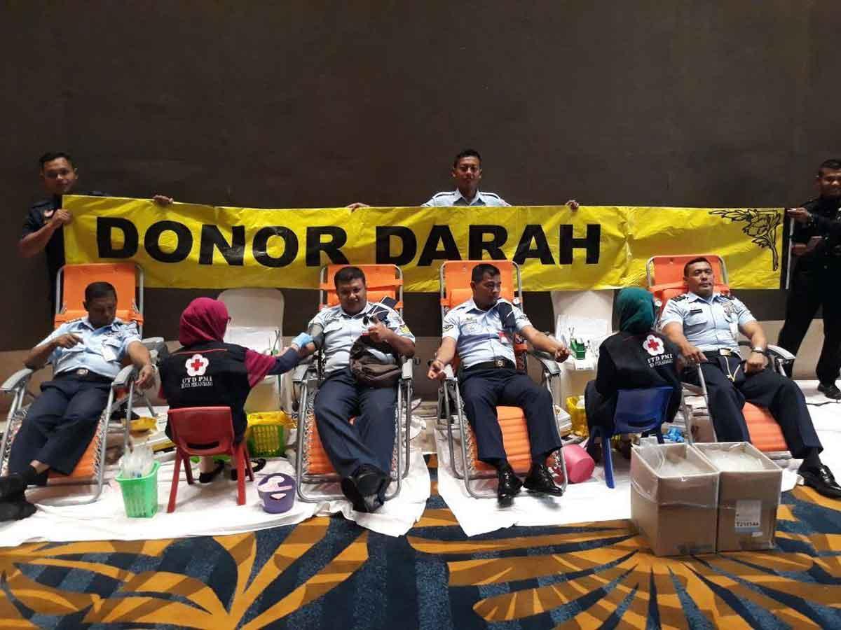 Anggota Lanud Rsn dan Yonko 462 Kembali Donorkan Darahnya