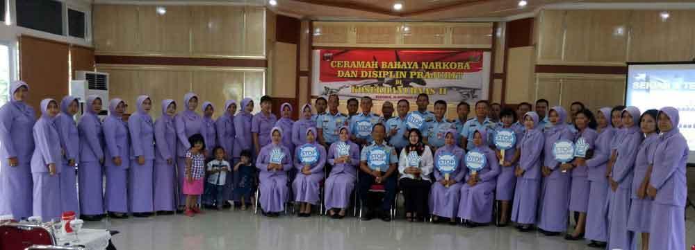 Ceramah Bahaya Naroba dan Dispilin Prajurit di Kosekhanudnas II Makassar
