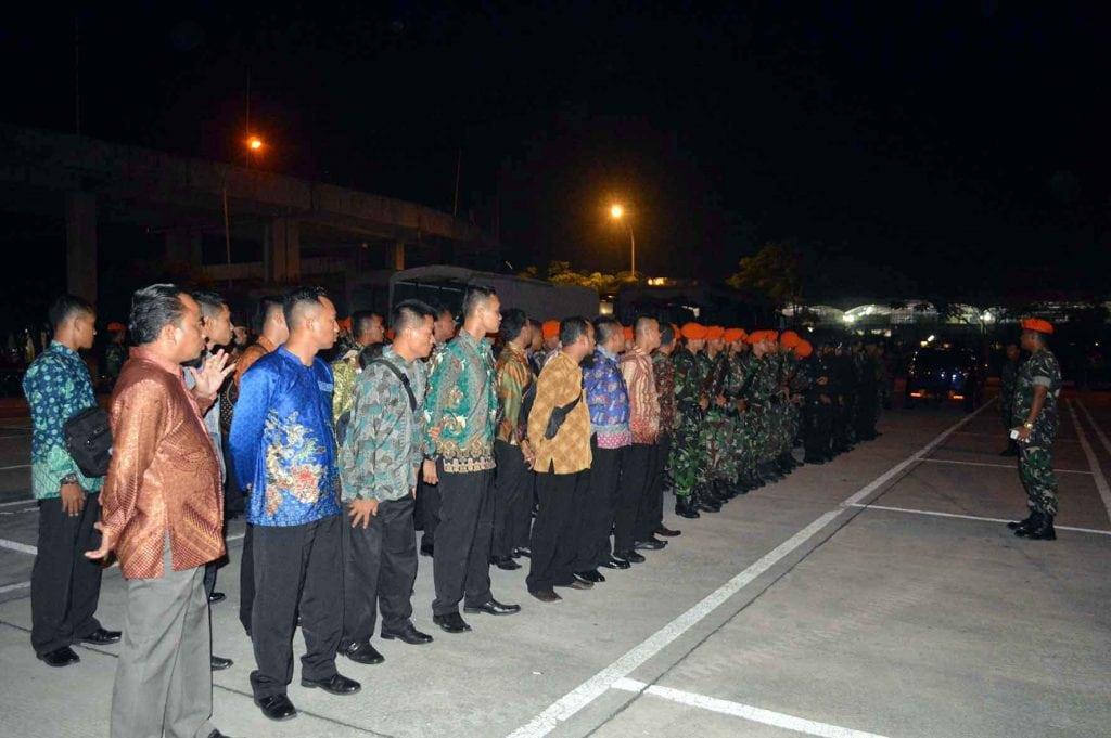 Prajurit Paskhas Amankan Kunjungan RI1di Medan