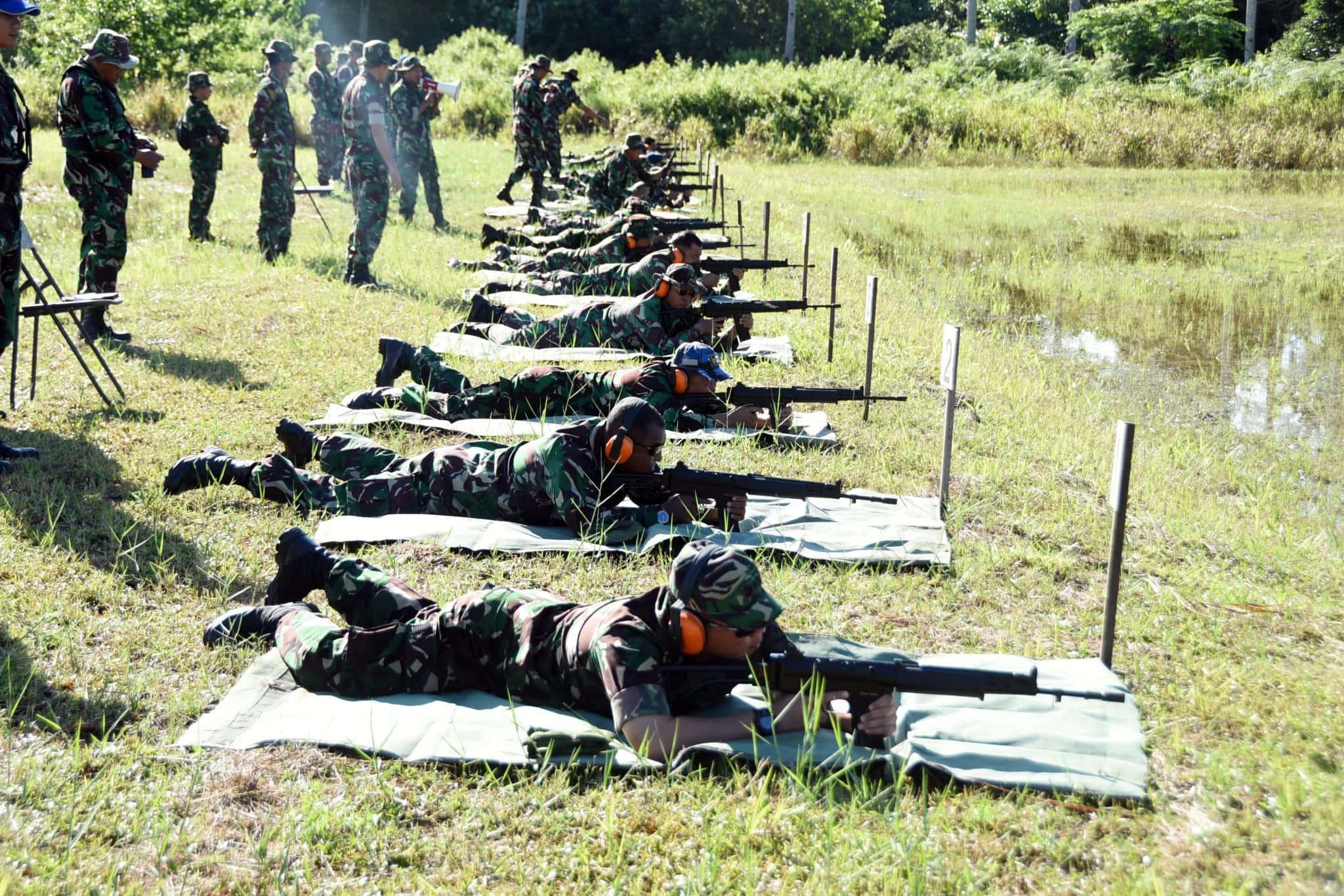 Lanud Raden Sadjad Ranai-Natuna Laksanakan Latihan Menembak