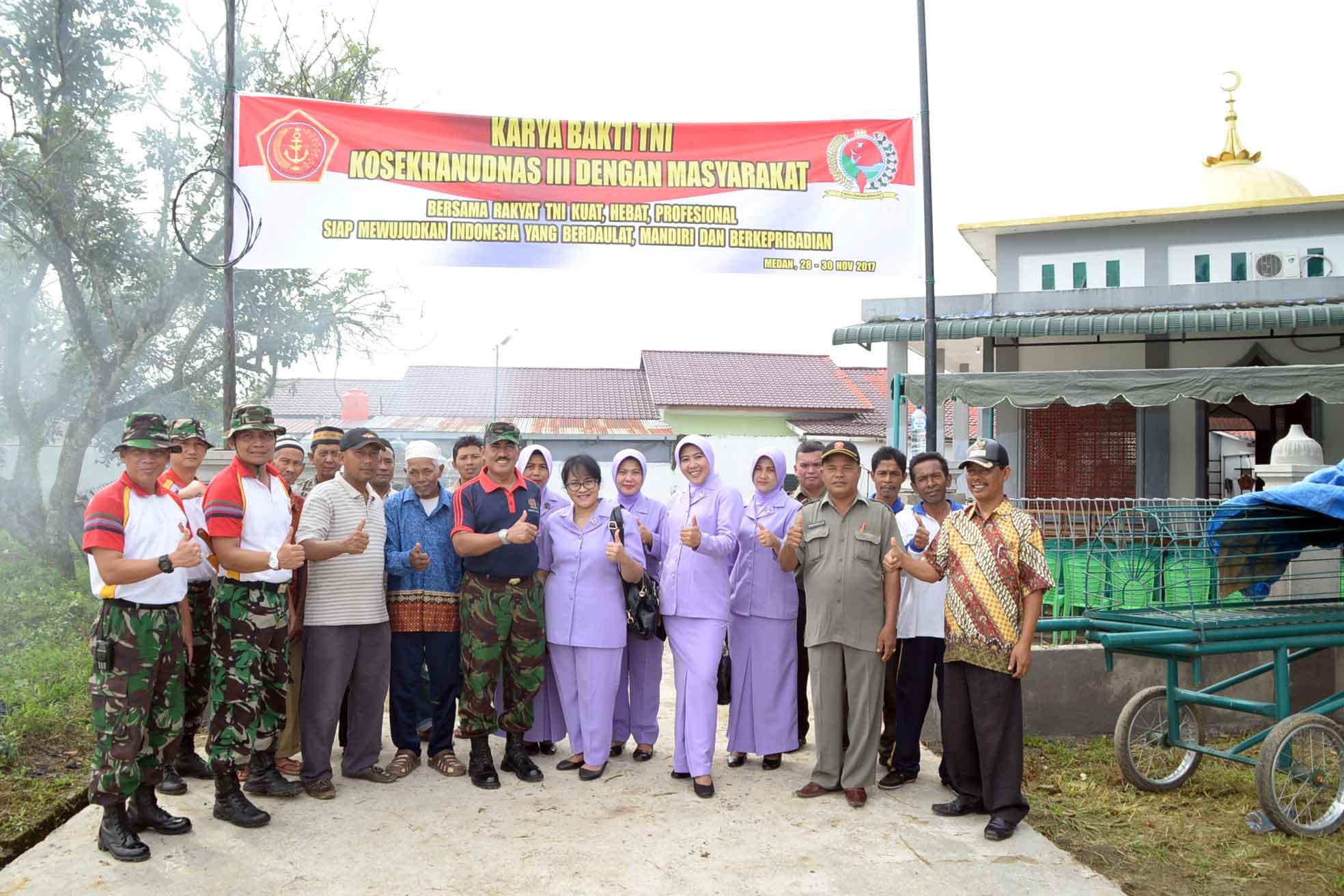 KOSEKHANUDNAS III MELAKSANAKAN KEGIATAN KARYA BHAKTI TNI SEMESTER II TA.2017