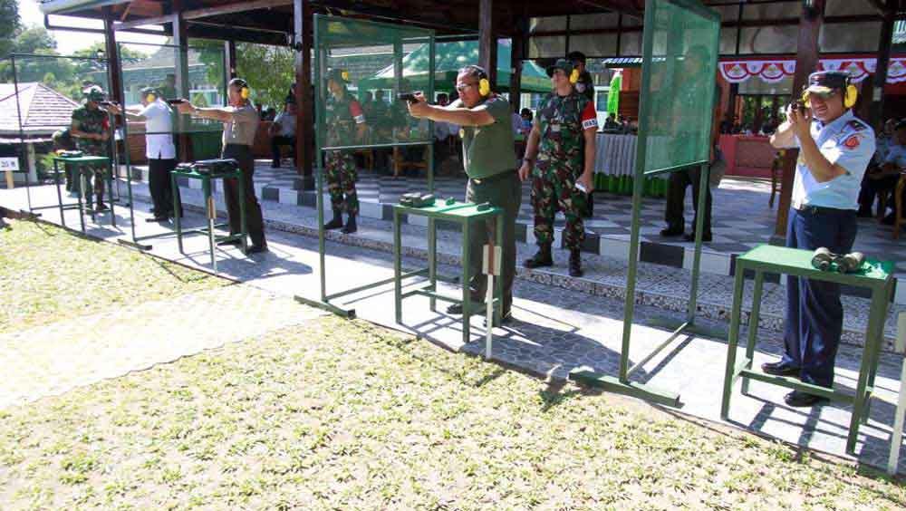 Peresmian Lapangan Tembak M Bakri Hasan di Kodam XVI Hasanuddin