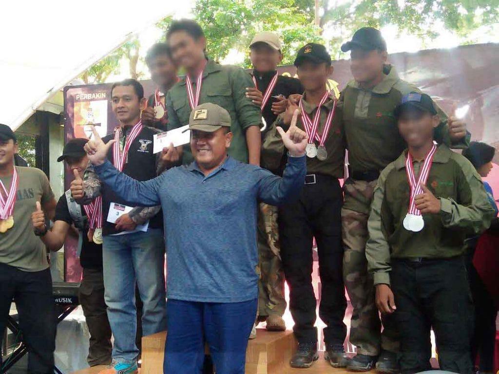 Satbravo 90 Paskhas Raih3Medali EmasKejuaraan Menembak Marinir Cup 2017