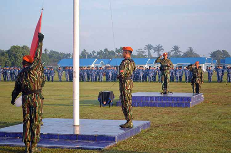 Mawing III Paskhas Menyelenggarakan Upacara Bendera 17an