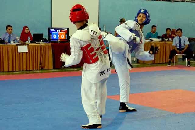 Atlet Taekwondo Yonko 462 Paskhas Raih MedaliEmasKejurda Bupati Cup III