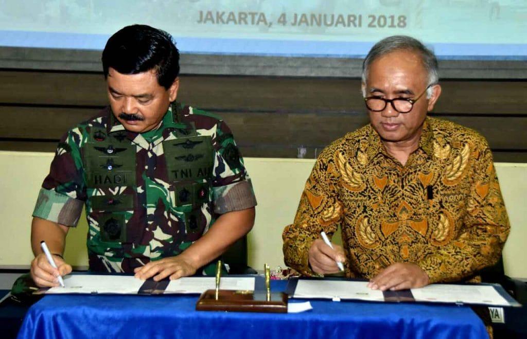 Tingkatkan Kualitas Kinerja, PT. Adhi Karya Gandeng TNI AU
