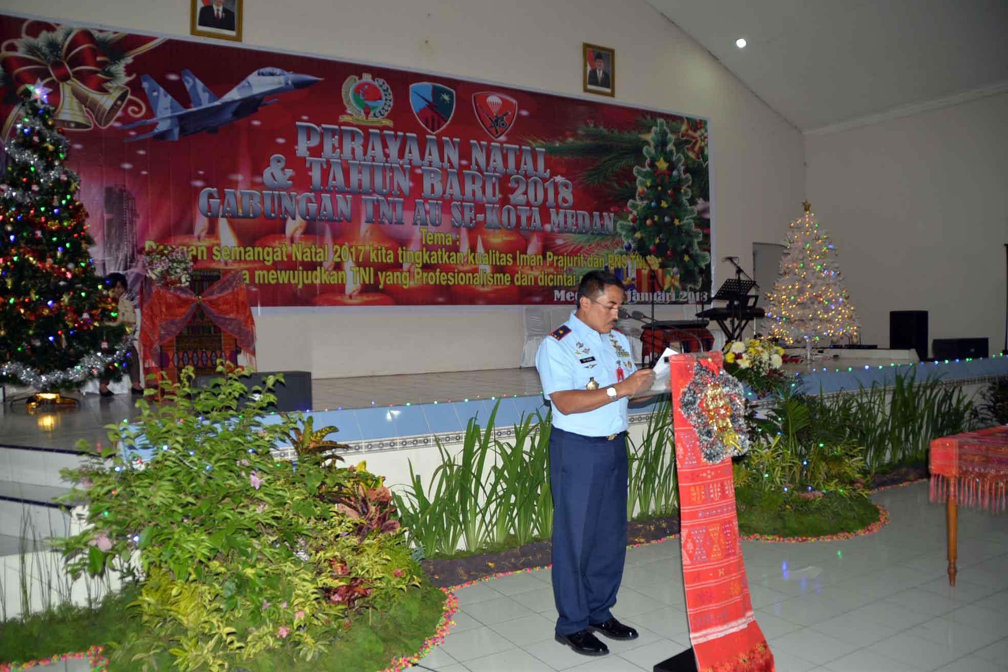 Perayaan Natal Bersama Keluarga Besar TNI AU Se-Kota Medan