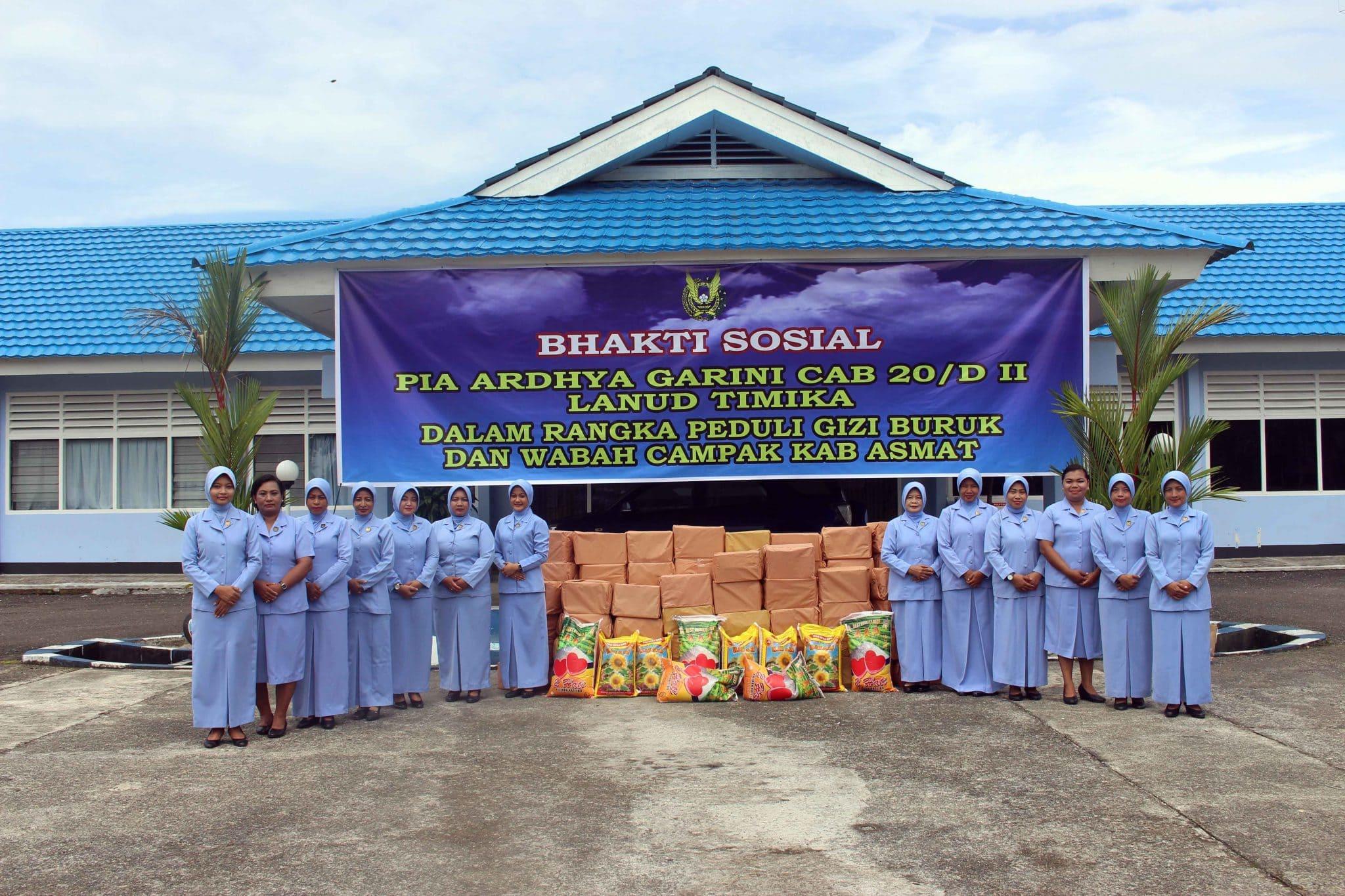 Lanud Timika Peduli Gizi Buruk Di Kabupaten Asmat