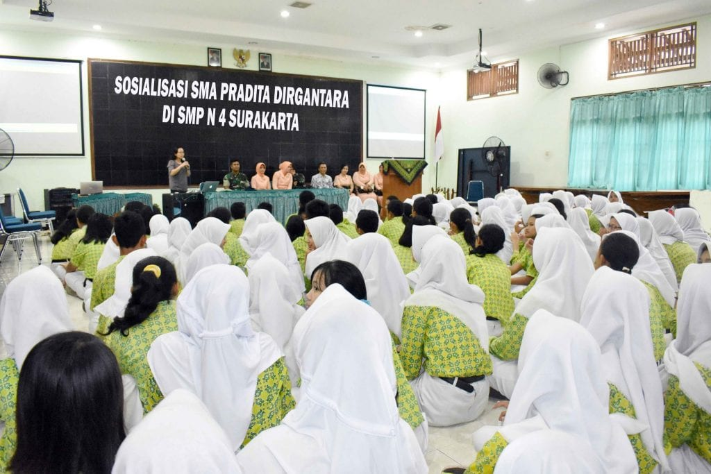Sosialisasi Sma Pradita Dirgantara Di SMP Negeri 4 Surakarta