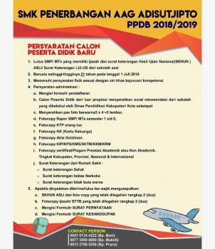 SMK Penerbangan Membuka Penerimaan Peserta Didik Baru T.A 2018/2019