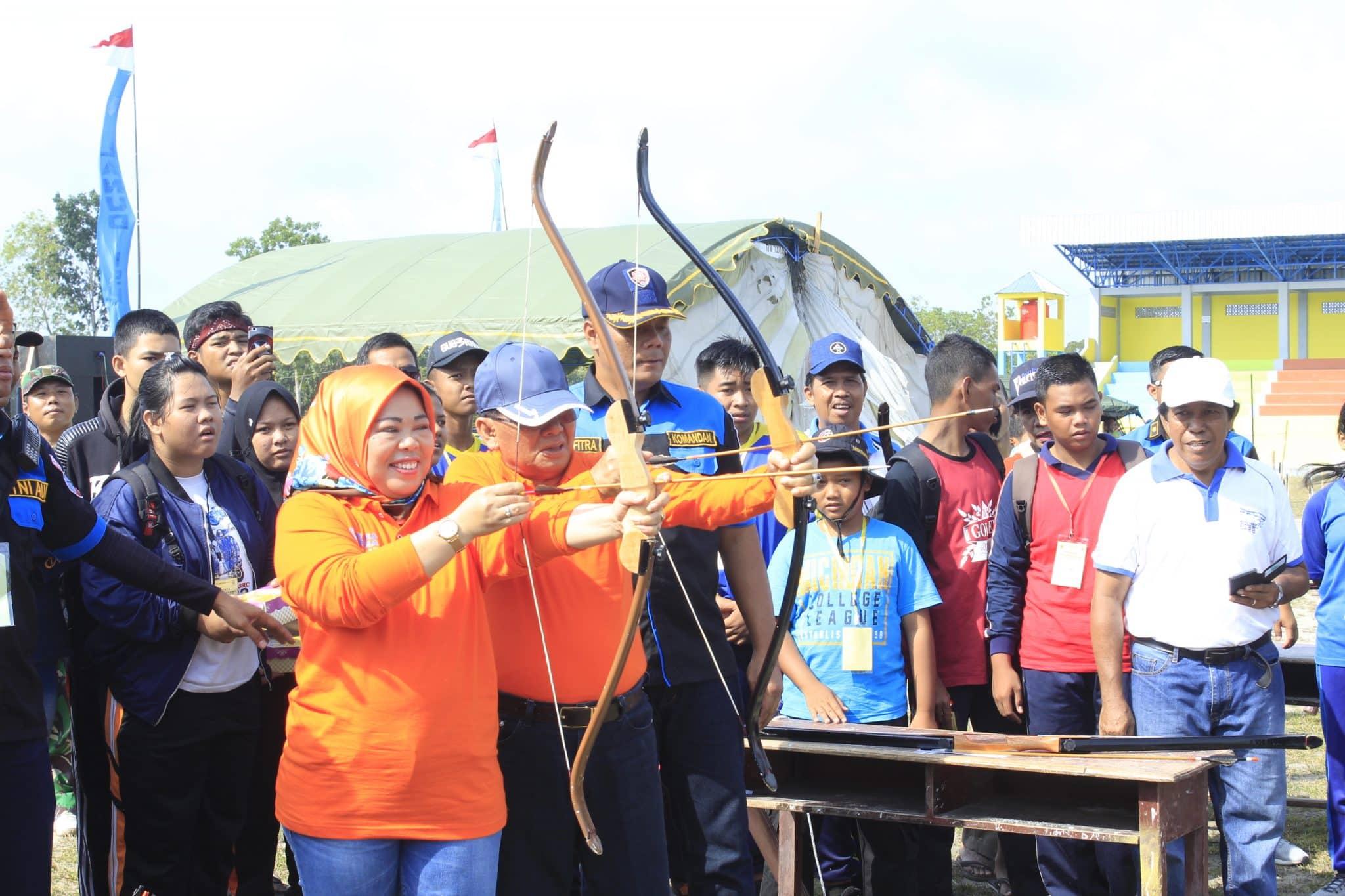 Lanud Iskandar Adakan Lomba Panahan dan Menyumpit Dalam Rangka Bulan Dirgantara