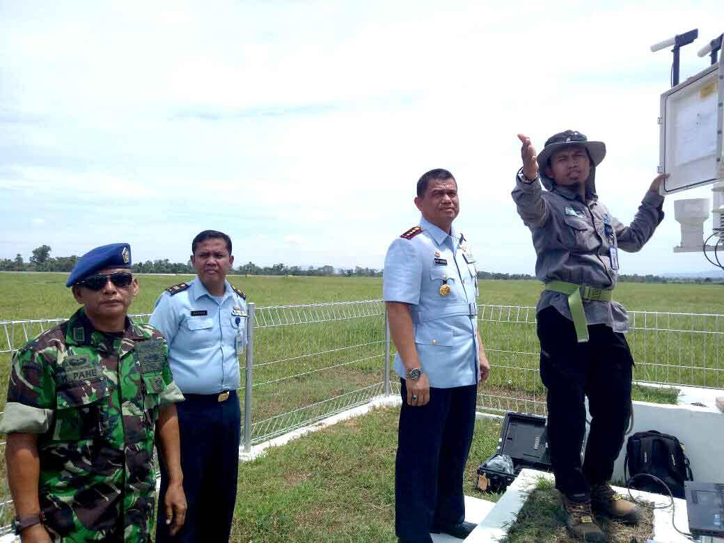 Danlanud HLO Pimpin Kalibrasi AWOS milik TNI AU