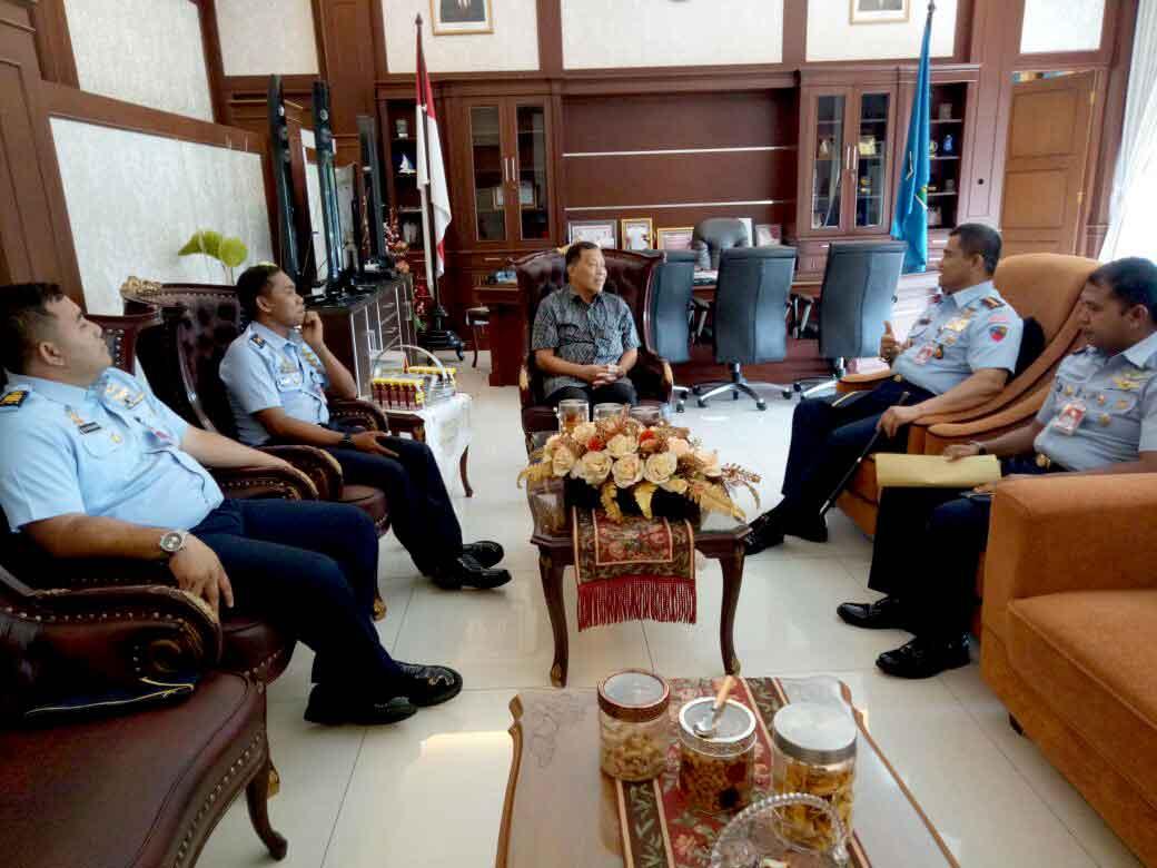 Danlanud HLO Silaturahmi ke FKPD Sultra