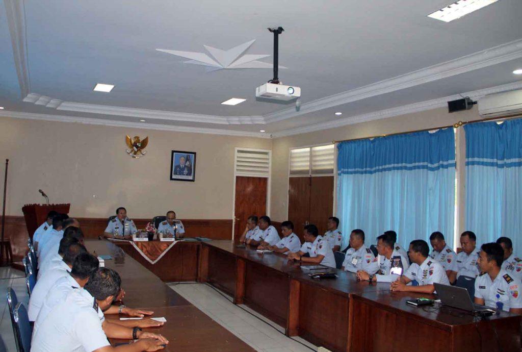 Exit Briefing Wasrikkap Itjenau di Lanud Sultan Iskandar Muda (SIM)