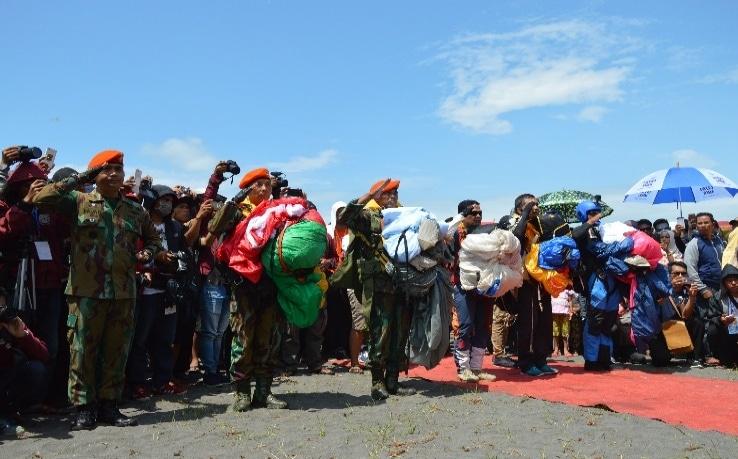 Denhanud 474 Paskhas Meriahkan Jogja Air Show di Pantai Depok