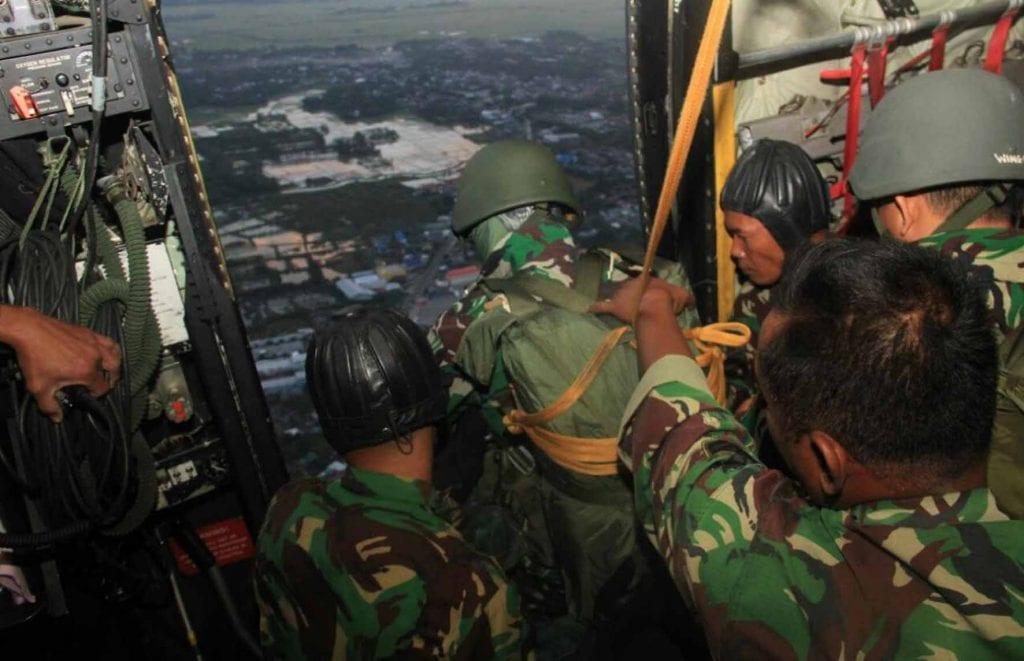 Wing II Paskhas Makassar Laksanakan Terjun Penyegaran Tahun 2018