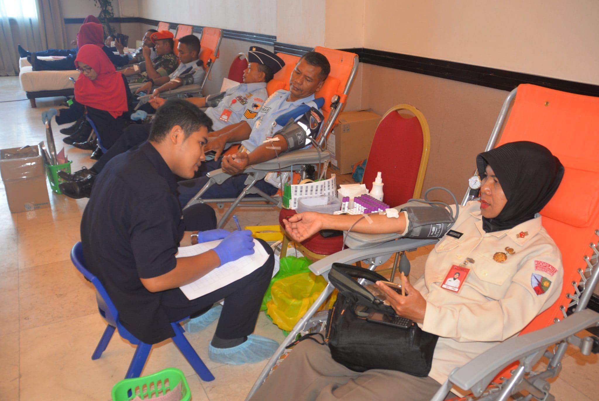Personel Lanud Rsn Rutin Ikuti Donor Darah