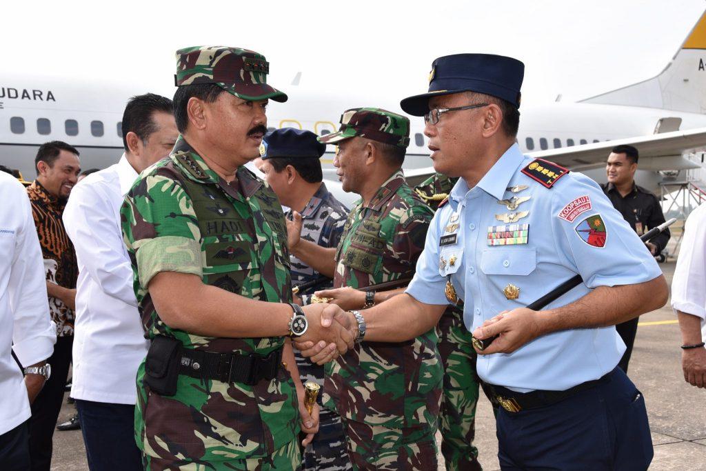 Danlanud RHF Sambut Panglima TNI