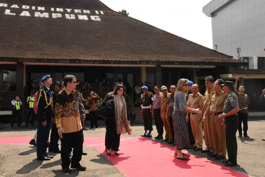 Kunjungan Ratu Belanda di Lampung