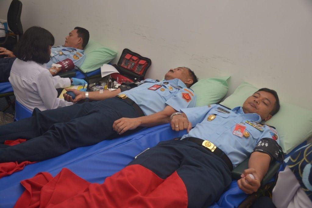 Personel Lanud Halim Perdanakusuma Ikuti Donor Darah di NASPCI