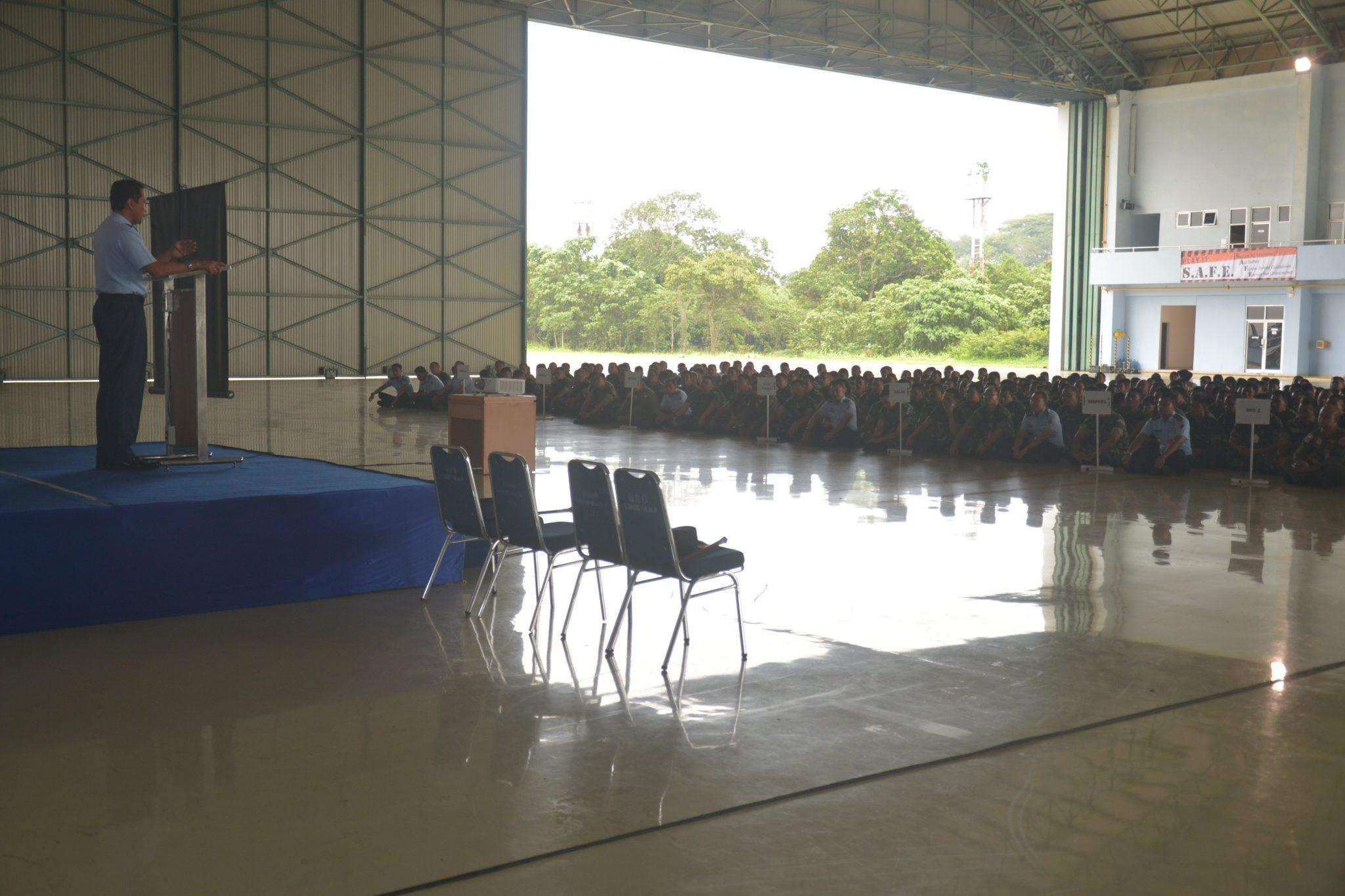 Enty briefing Komandan Lanud Halim Perdanakusuma kepada seluruh anggota