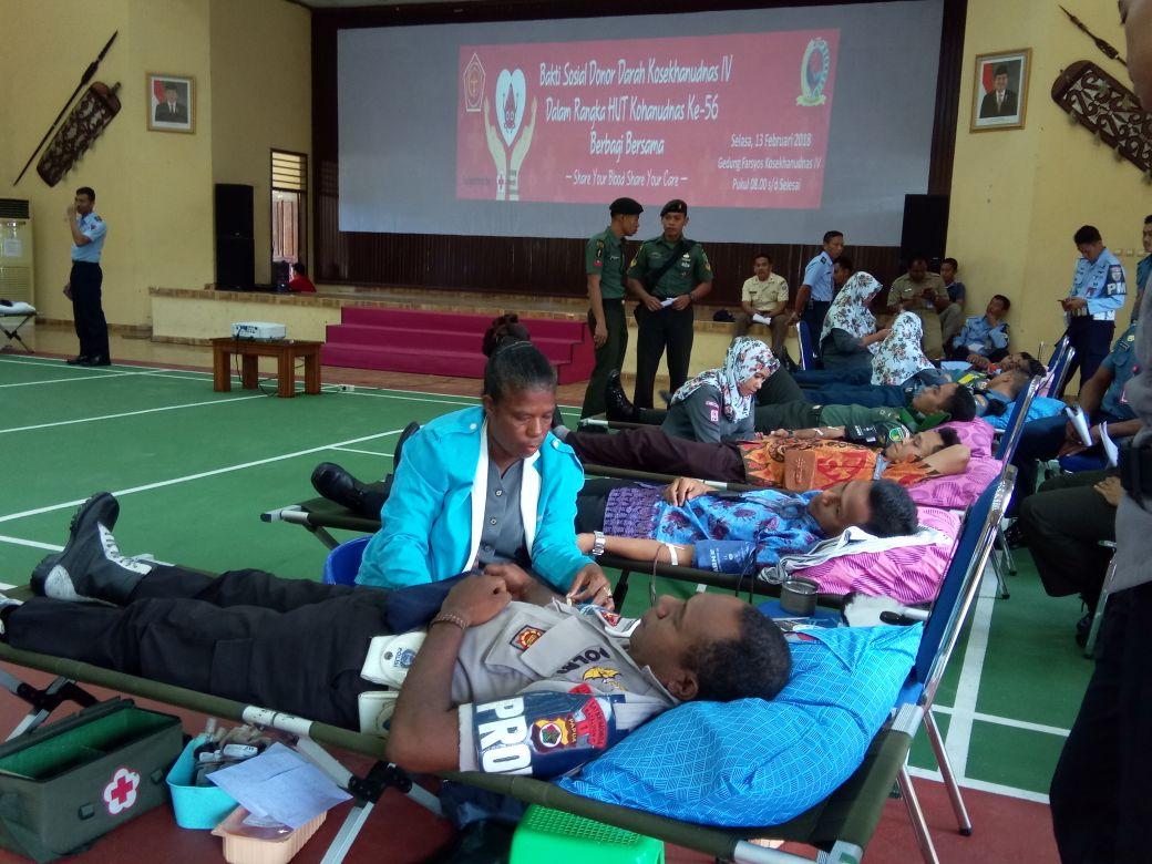 Kosekhanudnas IV Gelar Baksos Donor Darah