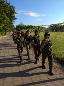 Srikandi TNI AU dalam kegiatan Minggu Militer