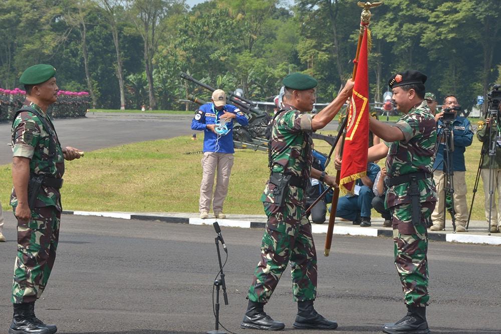 Panglima TNI Pimpin Upacara Alih Kodal PPRC TNI 2018-2020